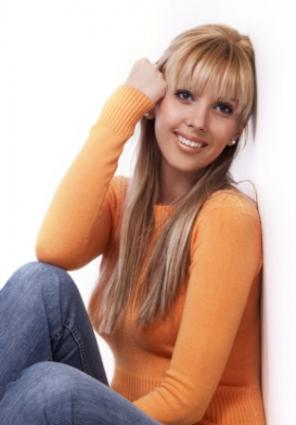 Woman in jeans and sweater