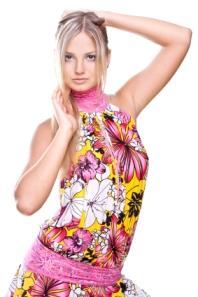floral drop waist dress