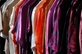 A rack full of dressy blouses