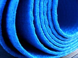 blue yoga sticky mat