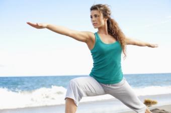 Inspiring yoga practice location