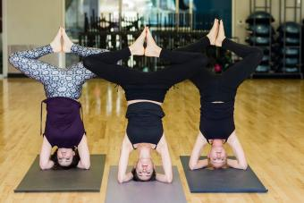 Supported Headstand - Vary your feet position
