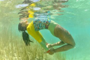 Floating Upward Bow Pose