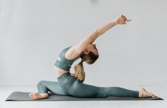 Fit girl wearing yoga pants
