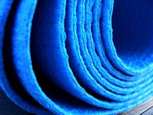 blue yoga sticky mat