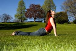 upward facing dog for your sun salutation sequence