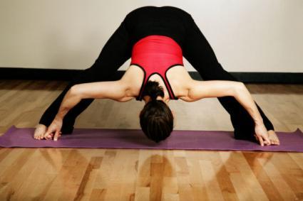 wide legged forward bend