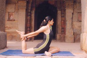 Yoga mat pose
