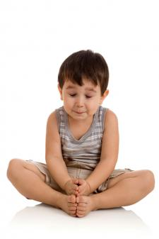 Child in bound angle pose