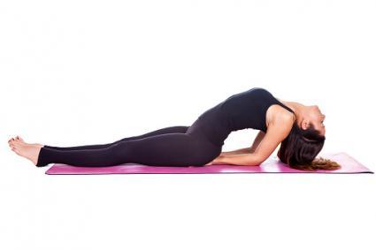 Yoga matsyasana pose