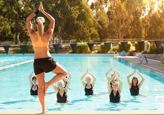 Water Yoga Poses