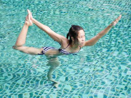 8 intermediate poses for a unique water yoga sequence